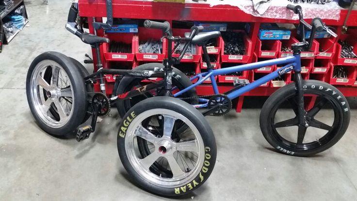 Top Fuel Wheels On Bmx Bike Custom Racing Slicks Bicycle