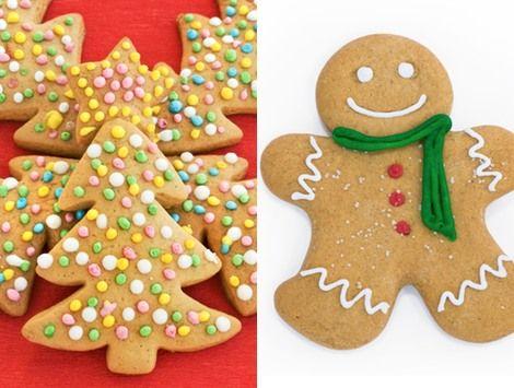 Un monton de ideas para navidad. Galletas de mantequilla como adornos de Navidad