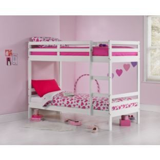 Buy Francis White Shorty Bunk Bed with Elliott Mattress at Argos.co.uk - Your Online Shop for Children's beds, Children's beds.