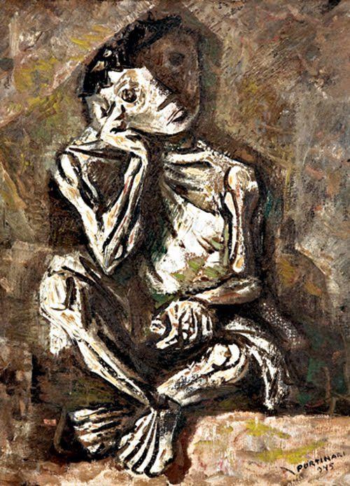 Menino Sentado 1945 Candido Portinari