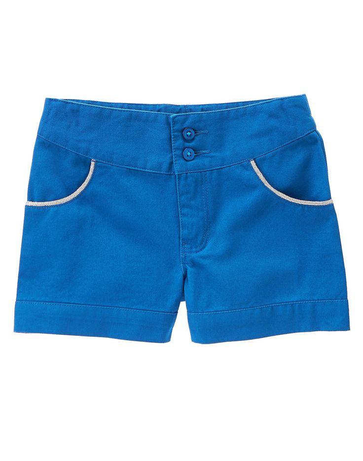 Metallic Trim Shorts at Gymboree  Collection Name: Seaside Stroll (2015)