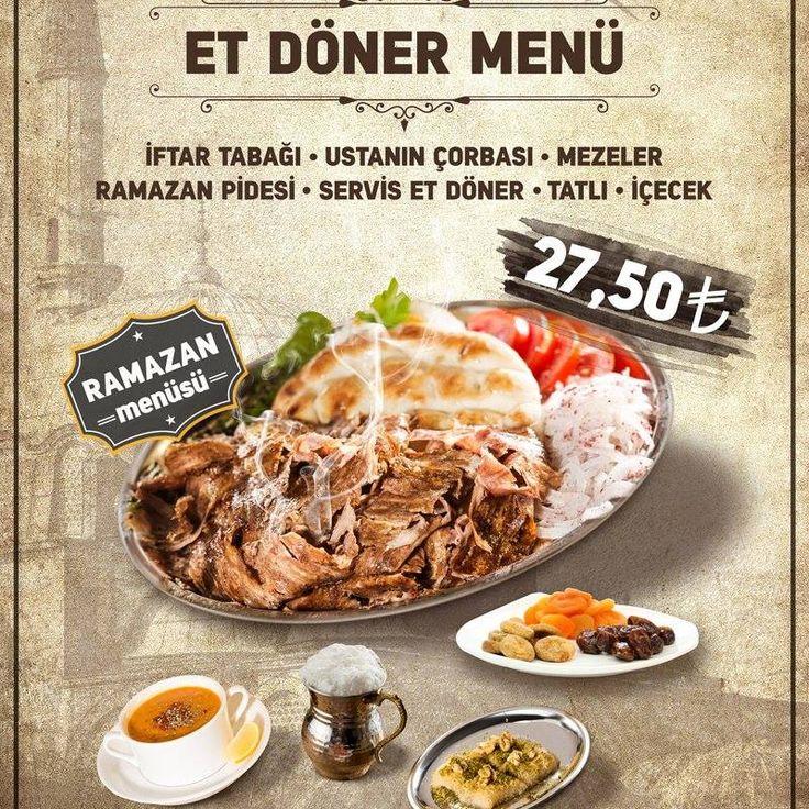 Sizin de canınız çekmedi mi? #Kes1Döner'de çorba, et döner, meze tabağı, ayran ve tatlı ile tadına doyulmaz menüler iftarın vazgeçilmezi! Bekliyoruz:) #kes1doner #kes1 #doner #etdöner #gelenekselankaradönercisi #menü #lezzet #tat #iftar #ramazan #gimartavm #panoraavm #ankara #turkey #turkiye