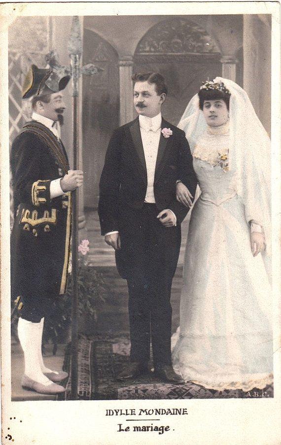 Vintage romantisch huwelijk briefkaart.  liefhebbers briefkaart. Bruiloft paar liefde kaart.