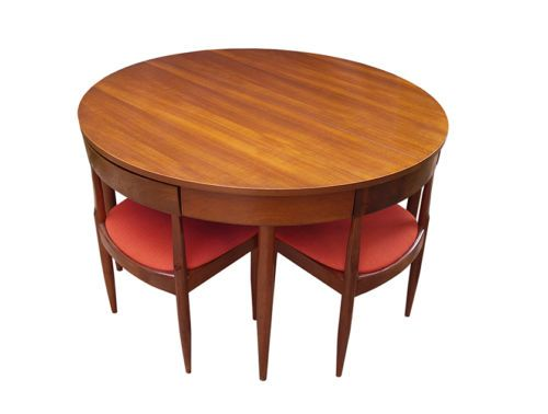 Vintage Teak Ernst Hansen Danish Dining Table Chairs Nest How Awesome Is This Design Mid Century Modern