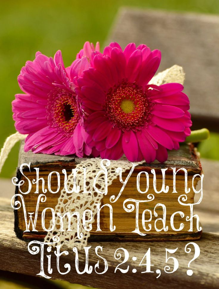 """Why is God's perfect plan to have the older women teaching the younger women? (I have heard many say that """"older"""" means older """"spiritually"""" in Titus 2:3 but this isn't what God meant. In the KJV, He calls them the """"aged"""" women; those who have aged – older in age.) He wants the older women who have the time, wisdom, and experience to teach the younger women who are busy at home taking care of their families."""
