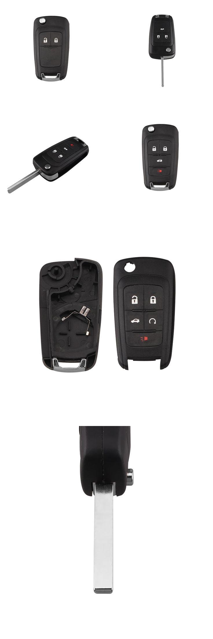 LARATH 2/3/4/5Buttons Remote Key Shell For Chevrolet Camaro Cruze Equinox Spark Malibu Sonic For Zafira Meriva car key shell FOB