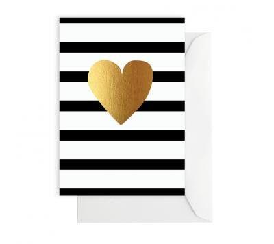 elm - Card- Gold Heart