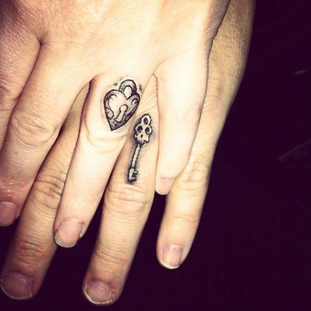 Love my husband @gypsyslayer soooo much!!! #weddingtattoo #besthusbbyever #minenotyours