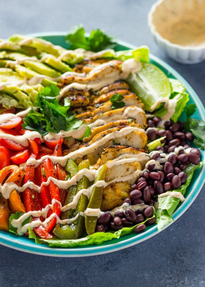 Cilantro Lime chicken Salad with skinny chipotle Ranch Dressing
