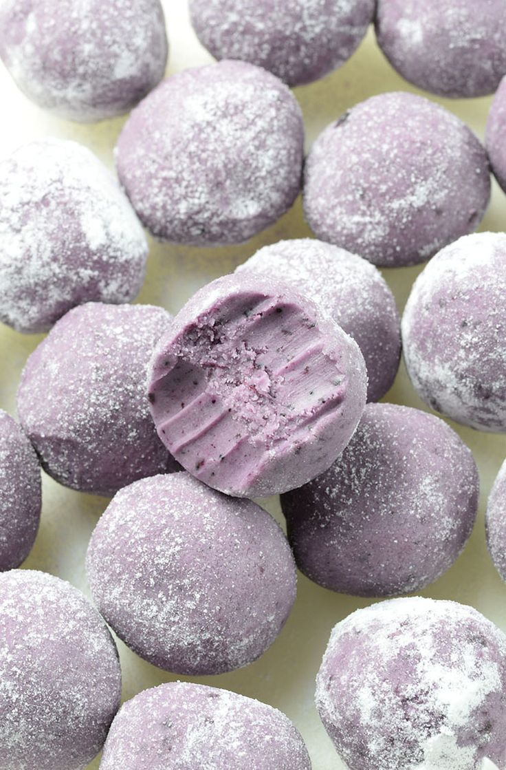 White Chocolate Blueberry Truffles by OMG Chocolate Desserts and other great no-bake desserts!