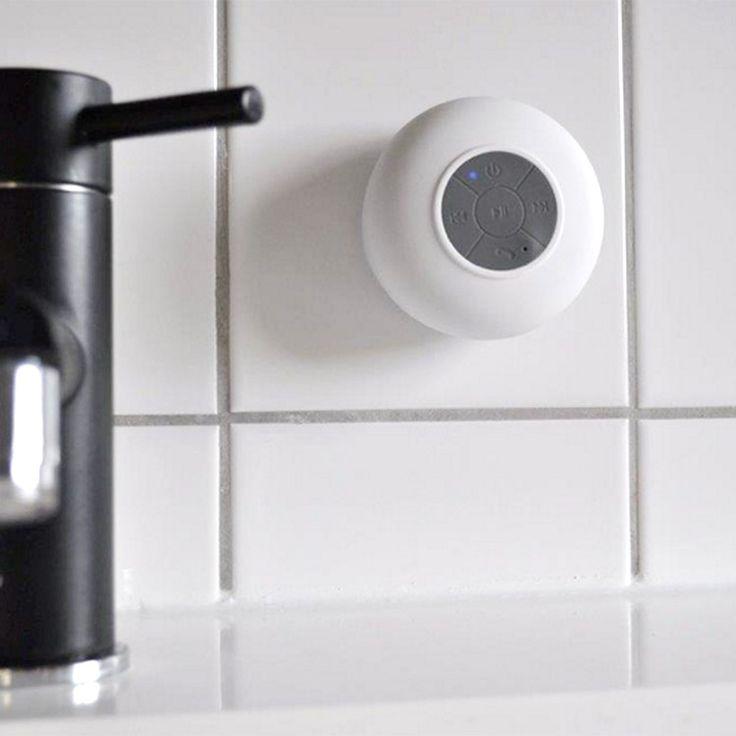Bluetoothhögtalare, vattentät med sugkopp.