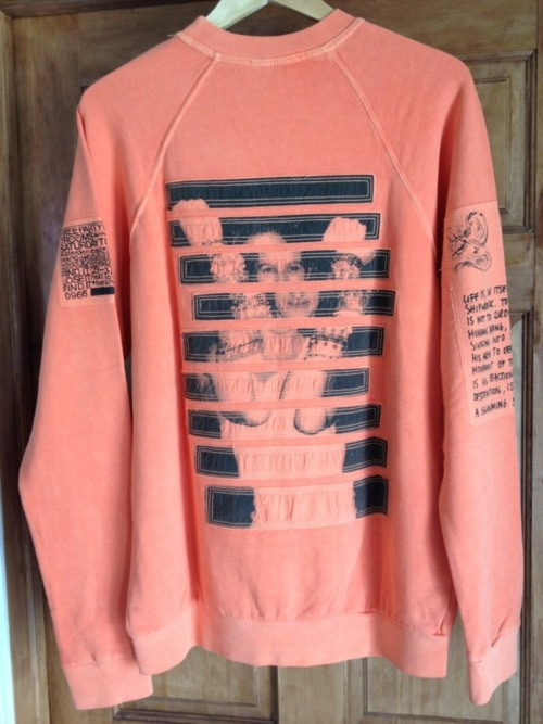 Raf Simons Orange Jumper from AW04-05 'Waves'