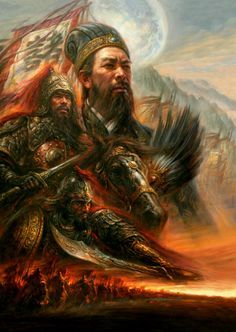 """Three Kingdoms"" Series  No.4 by He Qing"