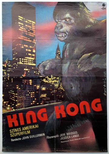 King Kong vintage movie poster from the Budapest Poster Gallery