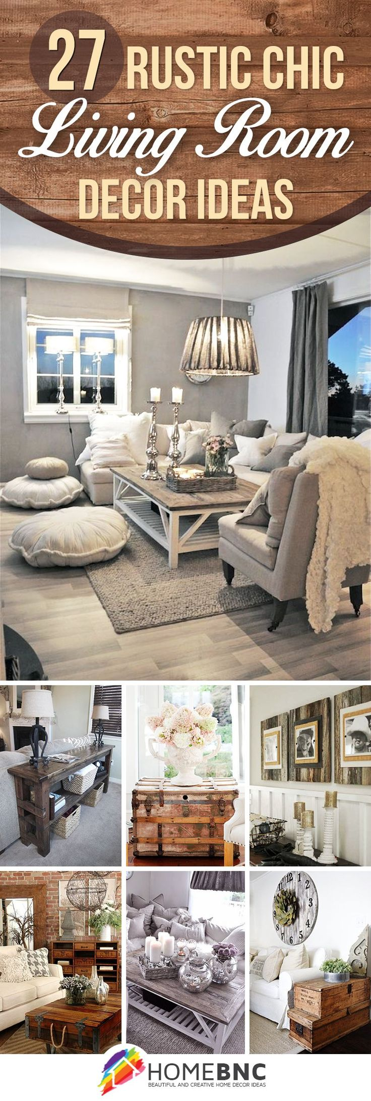 27 Breathtaking Rustic Chic Living Rooms That You Must See. Decor For Living  RoomDiy ...