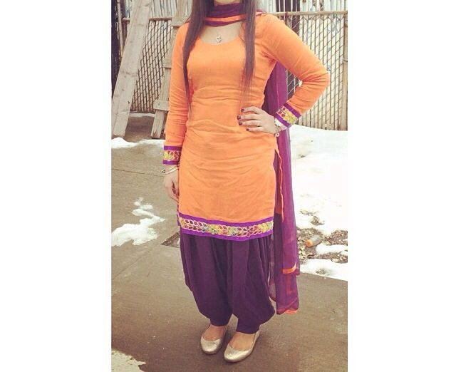 Simple salwar suit n nice combination