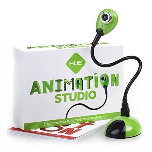 HUE Animation Studio (Green) for Windows PCs and Apple Mac OS X: complete stop motion animation kit with camera, software and book HUE Animation http://www.amazon.co.uk/dp/B0049TTKDG/ref=cm_sw_r_pi_dp_NoWQub04X9W80