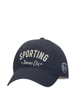 Adidas Sporting Kansas City Mens Navy Blue Slouch Adjustable Hat