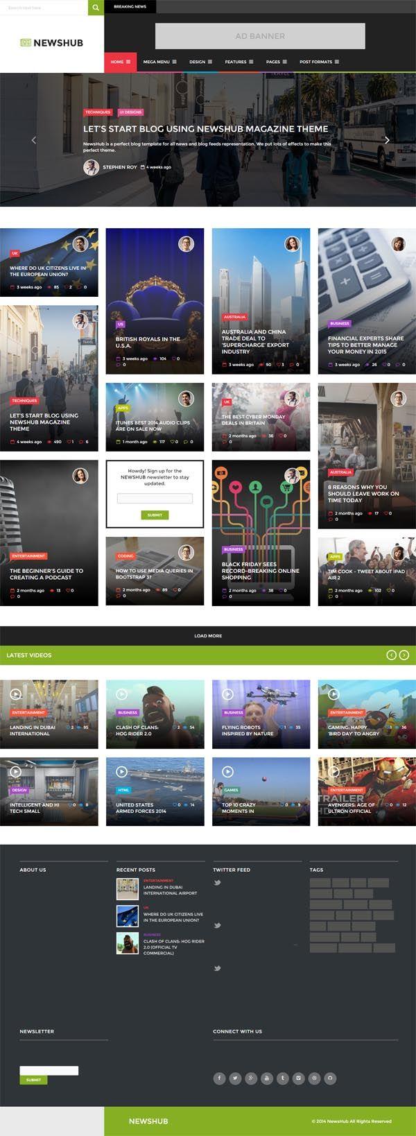 NewsHub Responsive WP News, Magazine, Blog (With images