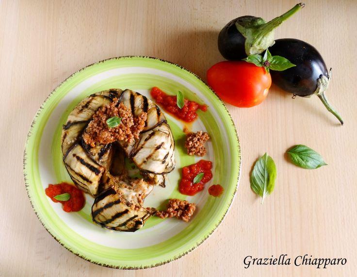 Tortino+di+carne+e+melanzane+grigliate+|+Ricetta+leggera