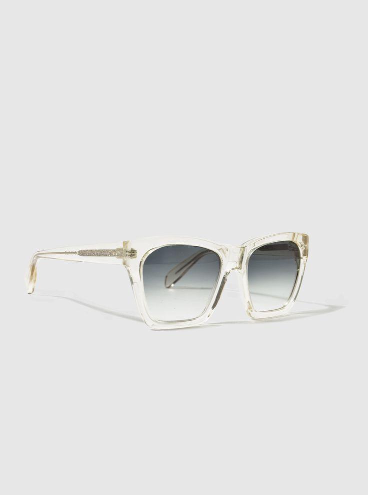 Kirk Originals Cilento Sunglasses in Yellow Handmade in Italy Grey Fade Lenses