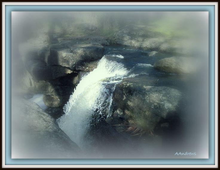 Waterfall in grey.