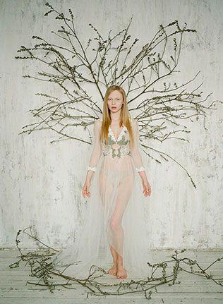 Необычный образ невесты: лесные эльфы, воздушный образ невесты