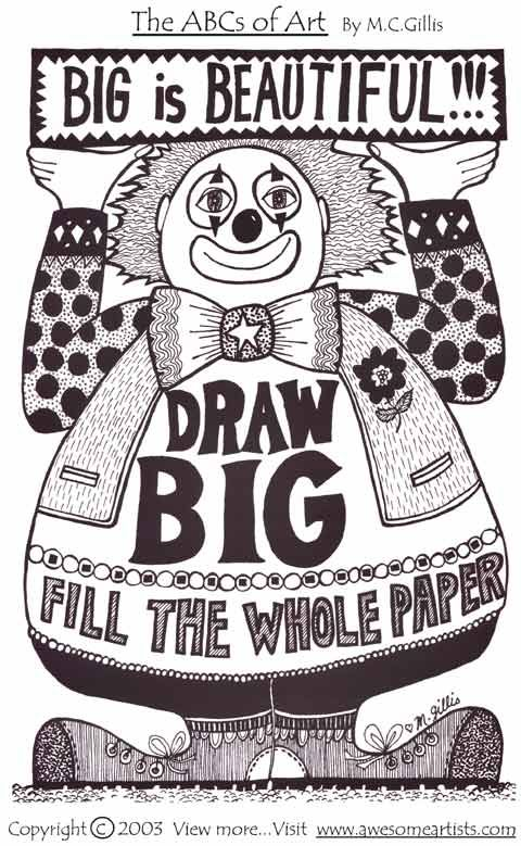 My motto when I taught second grade... No white space allowed! It was on every rubric involving illustrations!