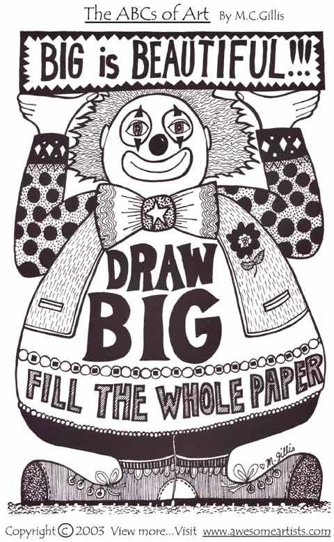 Printable art materials about space...draw bigAbc Art Gillis, Spaces, Involvement Illustration, Rubrics Involvement, Drawing Big, Art Materials, Huge Fans, Composition Repin By Pinterest, Printables Art