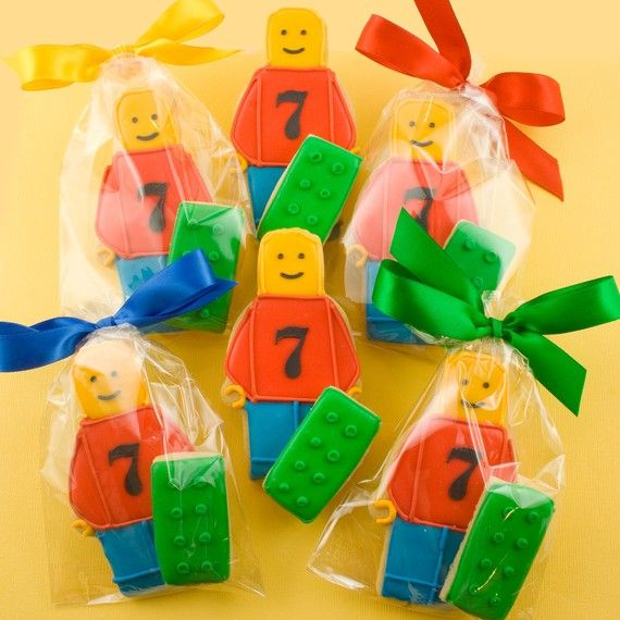 Lego Cookies Party Gift Sets 12 Lego Guys and 12 Lego by TSCookies, $45.00