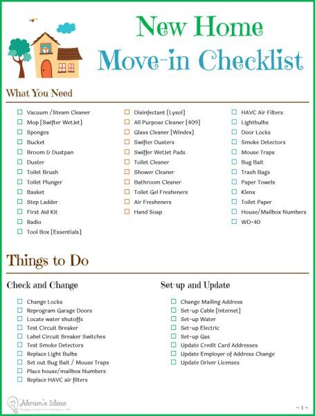 25 best ideas about new home checklist on pinterest new for Moving to a new home checklist