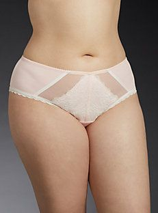 Lace Front Mesh Back Hipster Panty