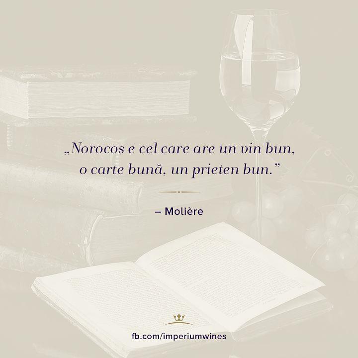 Moliere, despre plăcerile cele mai importante ale vieții: prietenii, cărțile și vinul!
