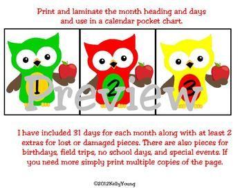 September Calendar Owls