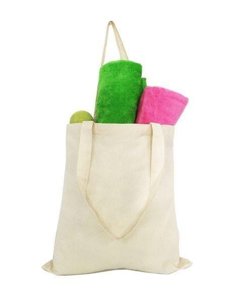 Economical 100% Cotton Reusable Grocery Plain Tote Bags - TL100