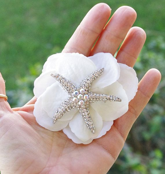 Hey, I found this really awesome Etsy listing at https://www.etsy.com/listing/182703568/perfect-starfish-brooch-hair-piece-silk