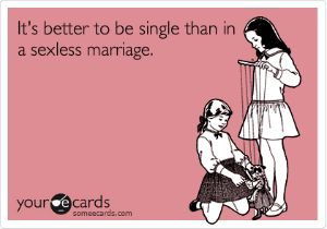 Sexless_Marriage | many marriages exist this way, but unless it's mutual it's abusive toxic and unhealthy