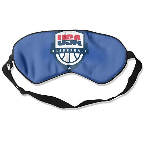 WLHZQS USA Basketball Rio 2016 Olympic Logo Natural Silk Eye Mask (without Ice Bag) >>> More info could be found at the image url.