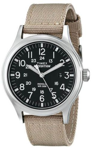 Timex-Expedition-Scout-Metal-Watch-T49962-Khaki-Black