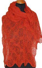 Firkanter - sjal i hullmønster strikket i lambswool og silke