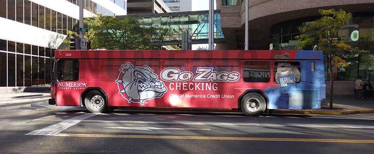 Transit bus advertisement - Gonzaga University Bulldogs Full Wrap | Ooh! Media Transit Bus ...