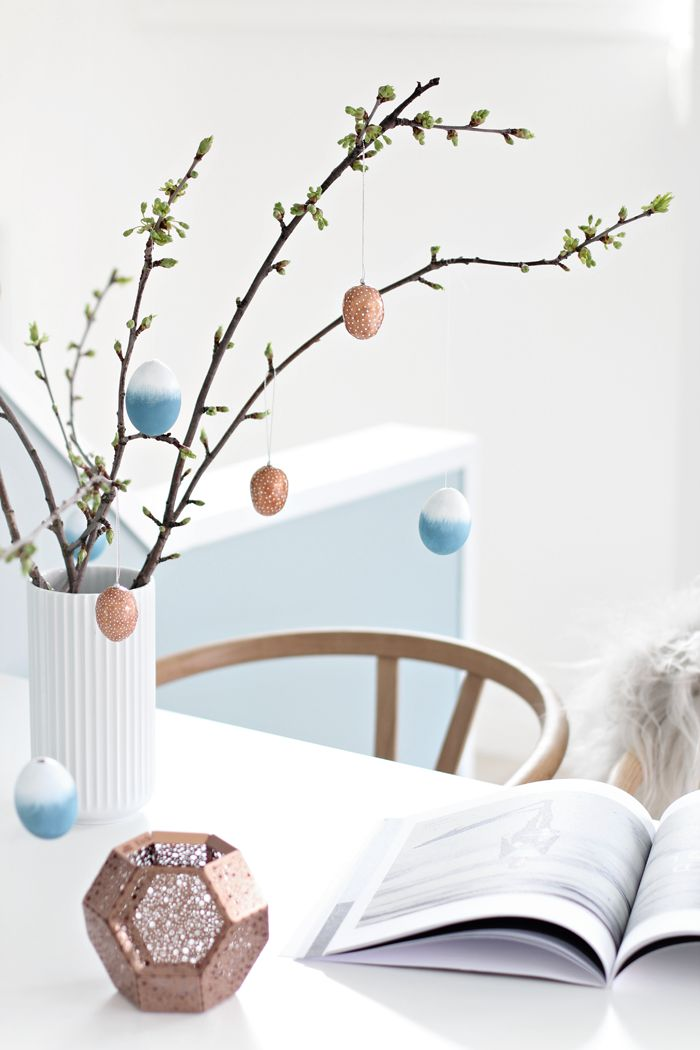 Copper easter eggs, dipdye, DIY