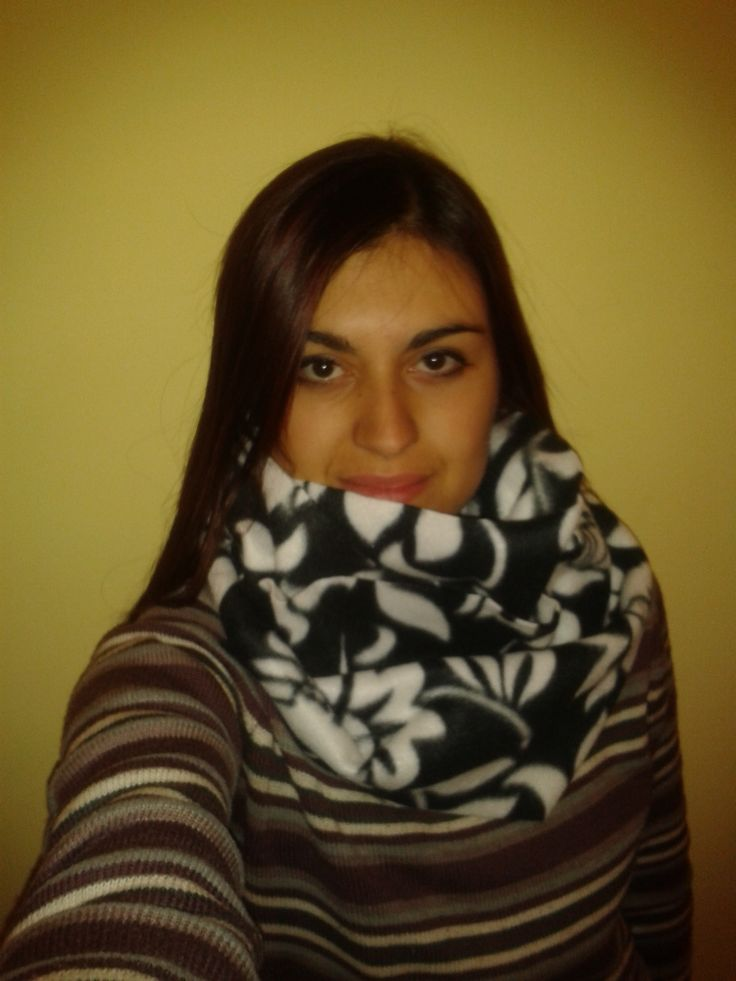 Fleece infinity scarf