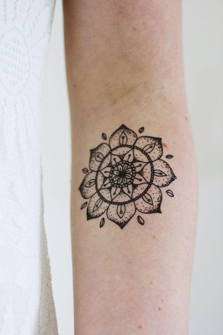 Tigger tattoo designs - Mandala Temporary Tattoo