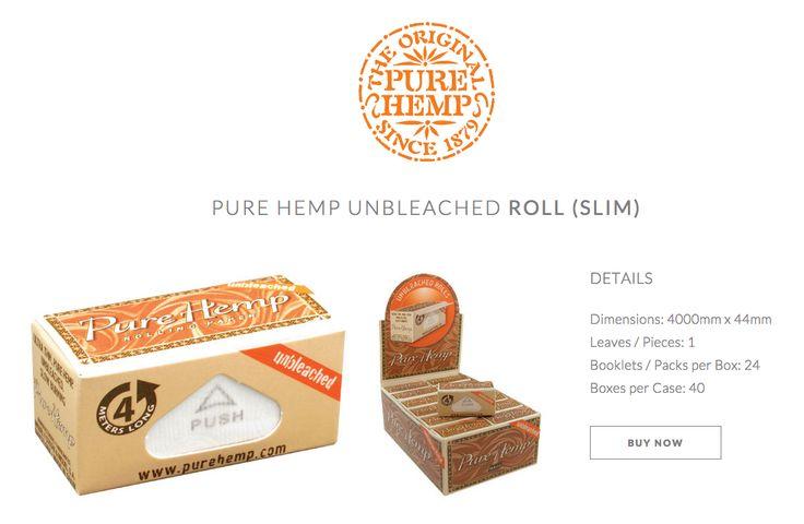 Unbleached Pure Hemp 4M Roll Slim  #PureHemp #Unbleached #Since1879 Available HERE: www.shop.purehemp.com/content/pure-hemp-unbleached-4-meter-roll