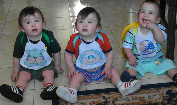 Listos para ir a la guarde #Triplets #Trillizos