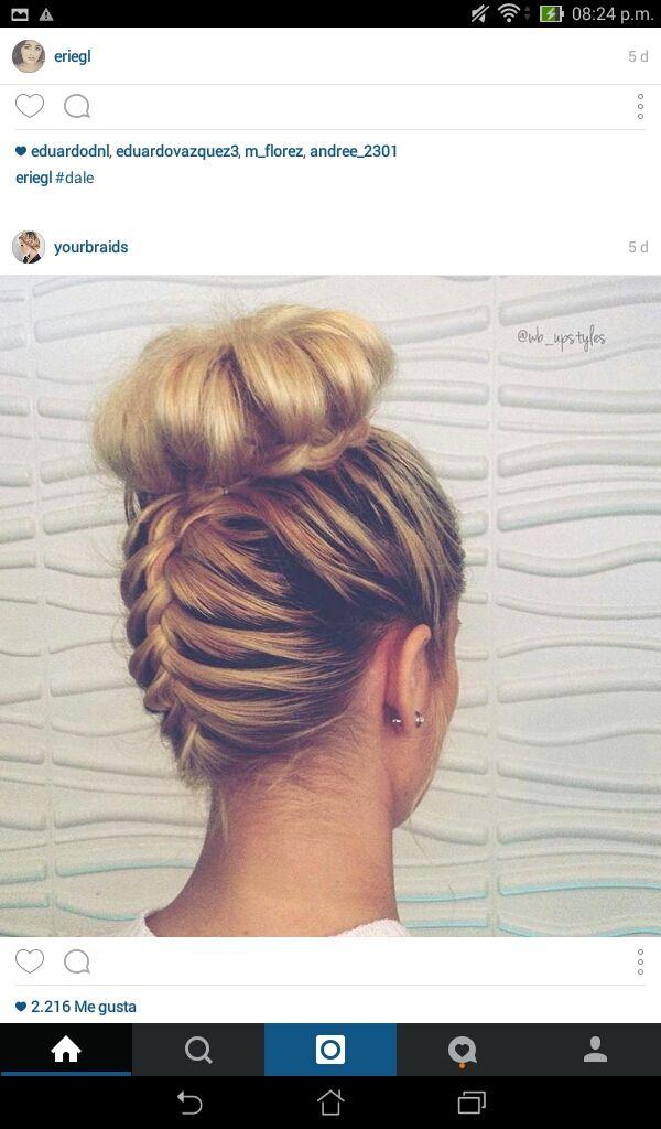 Peinados cabello recogido tumblr