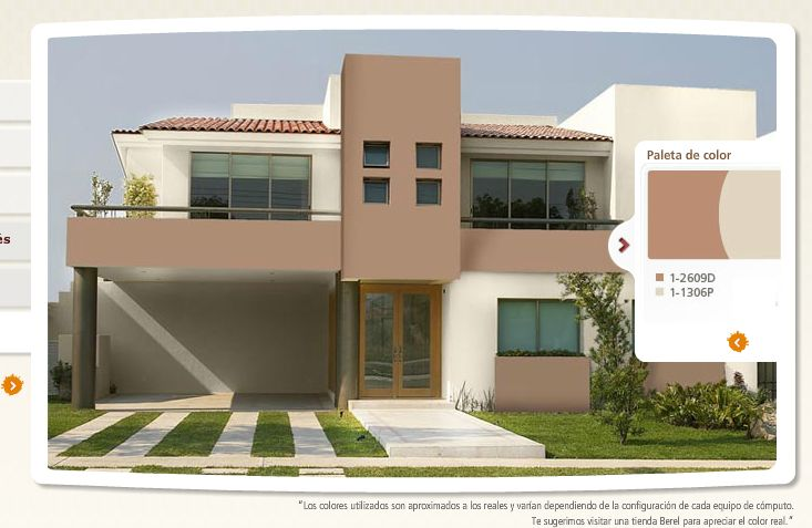 Colores para la fachada pintar la casa pinterest la for Pintura exterior para casas modernas