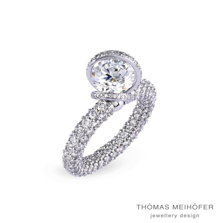Amazing Thomas Meihofer white gold and diamond engagement ring… Check!