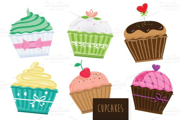 Check out Cupcakes vector set by cheebaribba on Creative Market http://clrlv.rs/1ahQIFK
